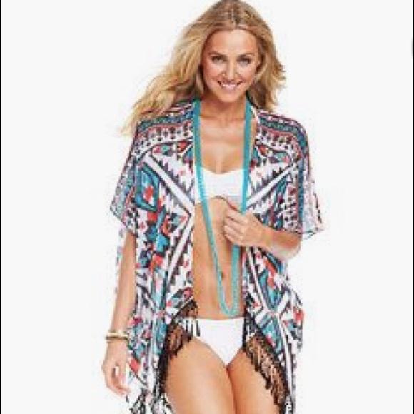 9009ce5cbd BECCA Other - Becca Aztec Kimono Swim Cover-up